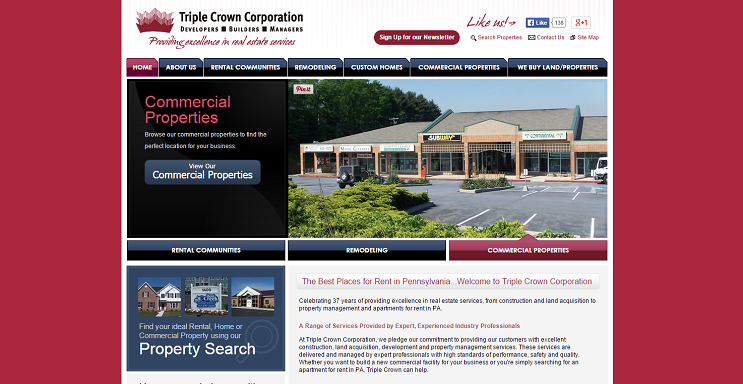 Triple Crown Corp. website